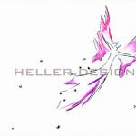 Aquarellbild Engelchen fliegt, Engelflügelchen, Engelsstaub
