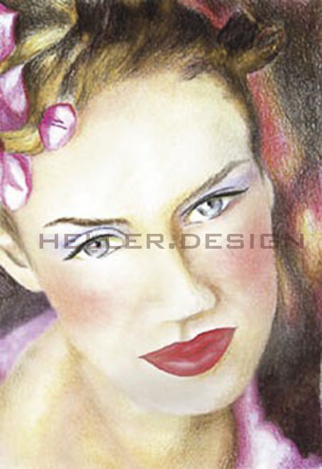 • Fine Art Galerie • Portrait  • Frauenkopf