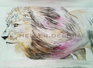Löwe Mischtechnik 59 * 84